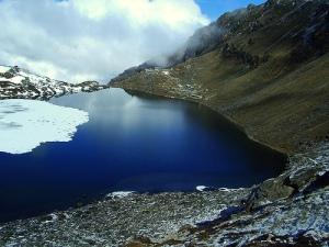 Gosaikunda lake, Laurebina pass, Kyangin Gompa.