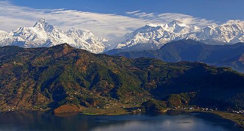 Mountain View From Phewa Lake